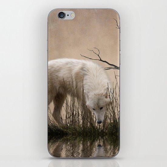 Woodland wolf reflected iPhone & iPod Skin