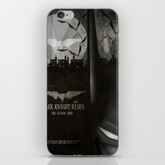 dark knight rises movie fan poster iPhone & iPod Skin