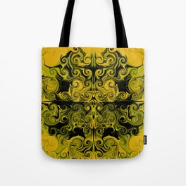 Yellow swirls art Tote Bag