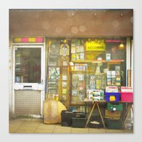 record Canvas Prints featuring Record Store by Cassia Beck