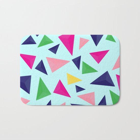 Colorful geometric pattern VIV Bath Mat