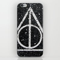 deathly hallows iPhone & iPod Skins featuring Deathly Hallows by Herk Designs