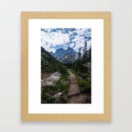 Teton Canyon, Grand Teton National Park Framed Art Print