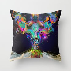 Fractalised Duality Throw Pillow