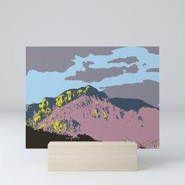 POP MOUNTAINS #001 BY CAMA ART Mini Art Print
