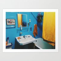 bathroom Art Prints featuring Bathroom by Gabriel Miller Tafra