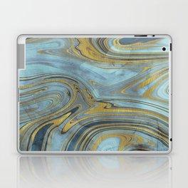Liquid Teal and Gold Laptop & iPad Skin