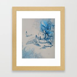 Gulf Stream - Whale, Sea Turtle, Shark Framed Art Print