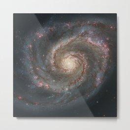 The Whirlpool Galaxy - Space Photograph Metal Print