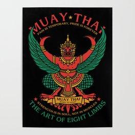 Muay Thai Sak Yant Garuda Poster