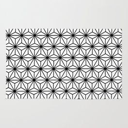 Geometric Flowers and Florals Isosceles Triangle Rug