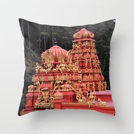 Indian Temple In Sri Lanka Throw Pillow