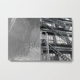 Americana - Fire Escape - Manhatten - NYC Metal Print