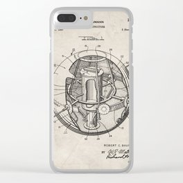 Space Satellite Patent - Outer Space Art - Antique Clear iPhone Case