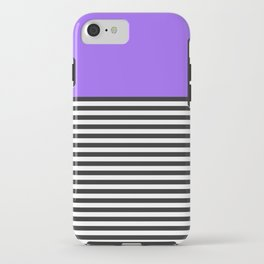 STRIPE COLORBLOCK {PURPLE} iPhone Case