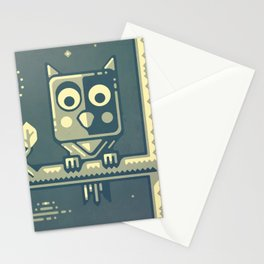 Night owl graphic design Stationery Cards