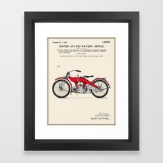 Motorcycle Patent Framed Art Print