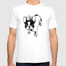 French bulldog Mens Fitted Tee LARGE White
