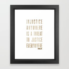 Martin Luther King Typography Quotes Framed Art Print