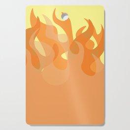 Pastel Flames Cutting Board