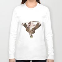 apple Long Sleeve T-shirts featuring Apple by fabiotir