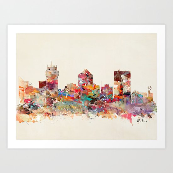 wichita kansas Art Print