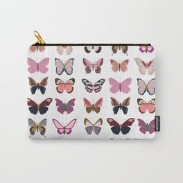 Pink Butterflies Carry-All Pouch