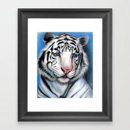 Snow Tiger Framed Art Print