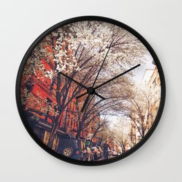 NYC Cherry Blossoms on the Lower East Side Wall Clock