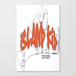 Island Kid sunset orange Canvas Print