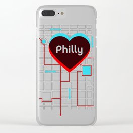Philly In Transit Clear iPhone Case