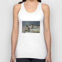 ducks Tank Tops featuring NYC / Ducks by johntrif