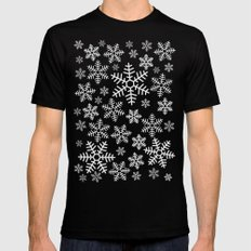 Winter Wander Black Mens Fitted Tee LARGE