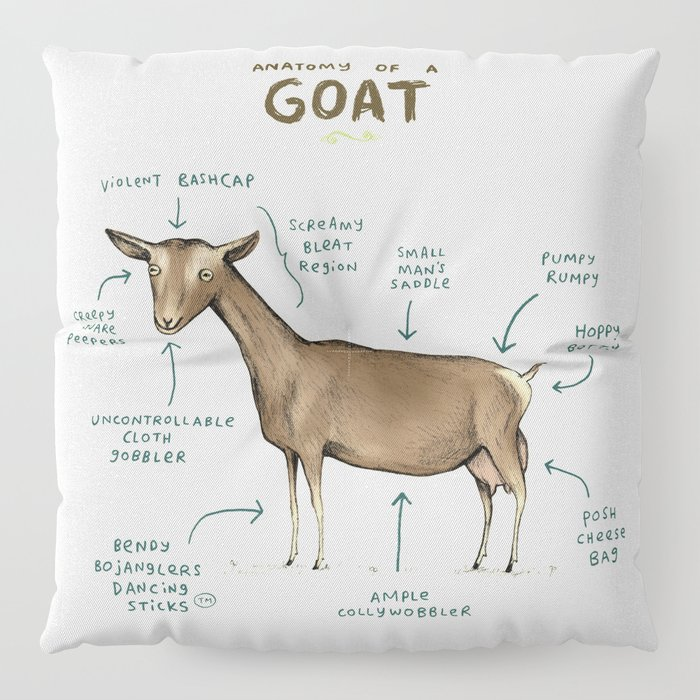 Anatomy of a Goat Floor Pillow by sophiecorrigan | Society6