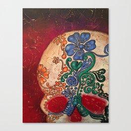 SUGAR SKULL Dia de los Muertos Canvas Print