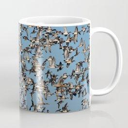 Wintering Ducks in Flight Coffee Mug