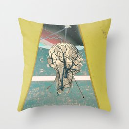 collision course Throw Pillow