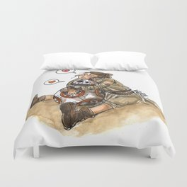 Rey & BB-8 #1 Duvet Cover
