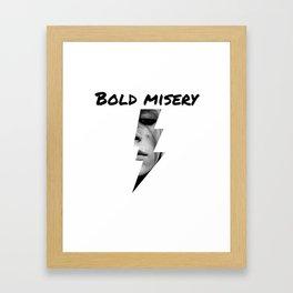 Bold Misery Framed Art Print