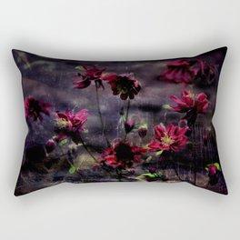 Mes ancolie - Aquilegia dark floral Rectangular Pillow