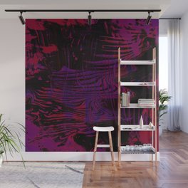 Disoriented Palette; Pink, Black and Purple Wall Mural