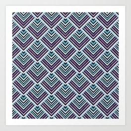 Purple and Blue Geo Art Print