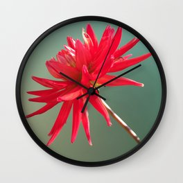 Red Imperfect Flower Wall Clock