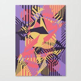Dazzle Camo #03 - Purple & Yellow Canvas Print