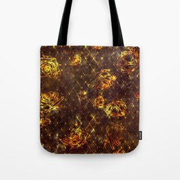 Diamond Rose Pattern - Maroon and Gold Tote Bag
