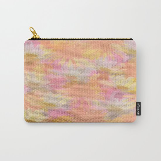 Painted Spring Flowers Carry-All Pouch