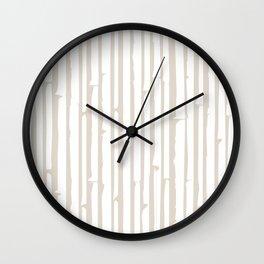 Abstract Bamboo Wall Clock