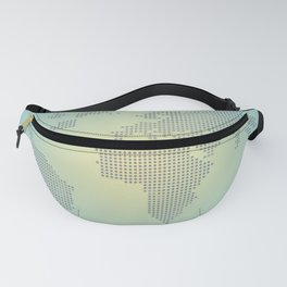 Map blue yellow gradient Fanny Pack