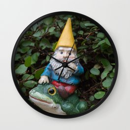 Adventure gnome Wall Clock