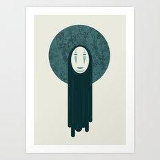 Spirited away, no face  Art Print